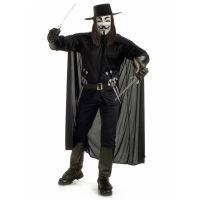 Bild på V For Vendetta Maskeraddräkt Herr Xlarge