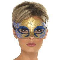 Bild på Venetiansk Guldmask med Glitter