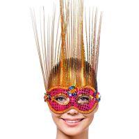 Bild på Venetiansk Mask Magenta/Guld Deluxe