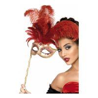 Bild på Venetiansk Mask med Fjädrar - One size
