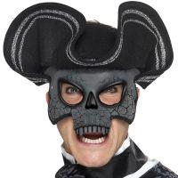 Bild på Venetiansk Ögonmask Dödskalle med Hatt