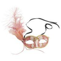 Bild på Venetiansk ögonmask med fjäder -rosa