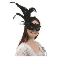 Bild på Venetiansk ögonmask med fjäder -svart