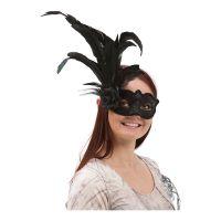 Bild på Venetiansk Ögonmask med Fjädrar - One size