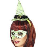 Bild på Venetiansk ögonmask med häxnäsa och minihatt