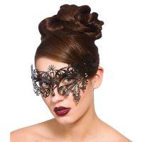 Bild på Venetiansk Svart Ögonmask med Diamanter