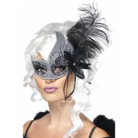 Bild på Venetiansk Teatermask Dark Angel