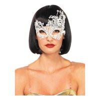 Bild på Venetiansk Vit Deluxe Ögonmask - One size