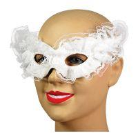 Bild på Vit Venetiansk Carnivalmask - One size