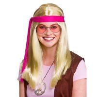 Bild på Woodstock Hippie Perukset Blond