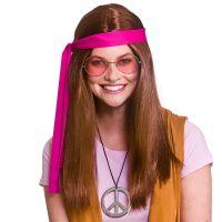 Bild på Woodstock Hippie Perukset Brun