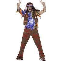 Bild på Zombie 60-tals hippie maskeraddräkt