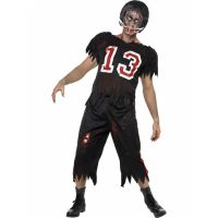 Bild på Zombie Amerikansk Fotboll Maskeraddräkt Large