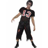 Bild på Zombie Amerikansk Fotboll Maskeraddräkt Small