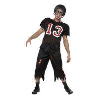 Bild på Zombie Amerikansk Fotbollsspelare Maskeraddräkt - Medium