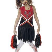 Bild på Zombie Cheerleader Maskeraddräkt Barn Large