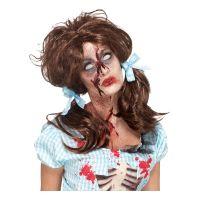 Bild på Zombie Countrytjej Brun Peruk - One size