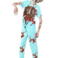 Bild på Zombie Kirurg Maskeraddräkt Barn Ungdom
