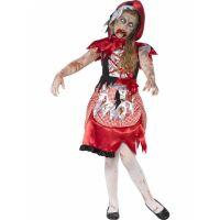 Bild på Zombie Miss Hood Maskeraddräkt Barn Large