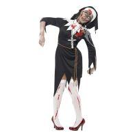 Bild på Zombie Nunna Maskeraddräkt - Small