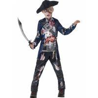 Bild på Zombie Pirat Maskeraddräkt Barn Medium