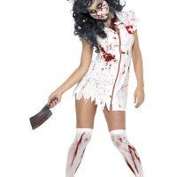 Bild på Zombie Sjuksköterska Maskeraddräkt Small