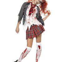 Bild på Zombie Skolflicka Maskeraddräkt Small