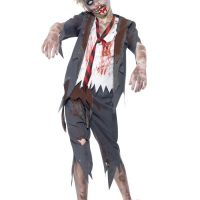 Bild på Zombie Skolpojke Maskeraddräkt Barn Large