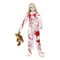 Bild på Zombieflicka i Pyjamas Barn Maskeraddräkt - Medium