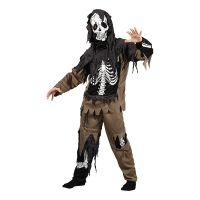 Bild på Zombieskelett Barn Maskeraddräkt - Medium